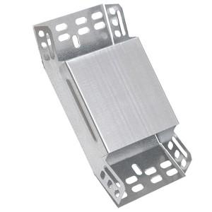 Поворот 45° вертикальный внутренний с крышкой для лотков 100х300 ИЭК