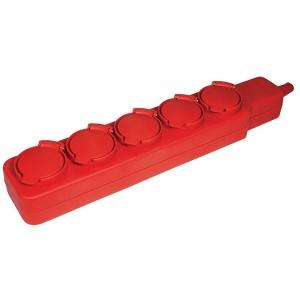 Удлинитель  У05В 5 мест с защитными крышками IP44 2Р+PE/5метров 3х1мм2 16А/250В ИЭК