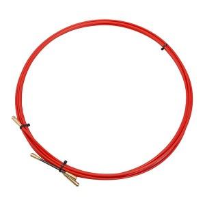 Кабельная протяжка стеклопруток d3,5мм, 5м красная, (мини УЗК в бухте)