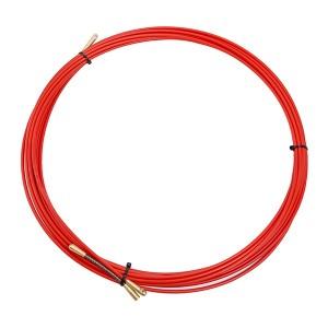 Кабельная протяжка стеклопруток d3,5мм, 10м красная, (мини УЗК в бухте)