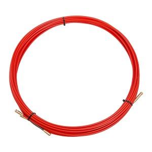 Кабельная протяжка стеклопруток d3,5мм, 15м красная, (мини УЗК в бухте)