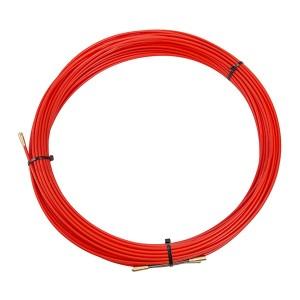 Кабельная протяжка стеклопруток d3,5мм, 30м красная, (мини УЗК в бухте)