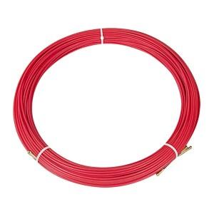Кабельная протяжка стеклопруток d3,5мм, 100м красная, (мини УЗК в бухте)