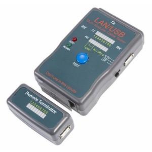 Тестер кабеля универсальный RJ-45+USB (HY-251454CT)