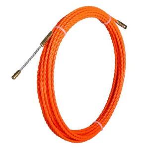 Протяжка кабельная из плетеного полиэстера Fortisflex PET d4,7mm L20m оранжевый (PET-1-4.7/20)