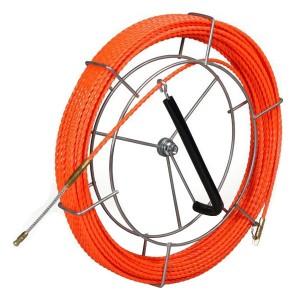 Протяжка кабельная из плетеного полиэстера Fortisflex PET d4,7mm L20m оранжевый на метал. катушке (P
