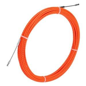 Протяжка кабельная из плетеного полиэстера Fortisflex PET d4,7mm L30m оранжевый (PET-1-4.7/30)