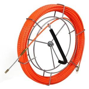 Протяжка кабельная из плетеного полиэстера Fortisflex PET d4,7mm L30m оранжевый на метал. катушке (P