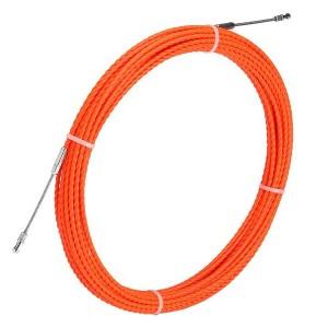 Протяжка кабельная из плетеного полиэстера Fortisflex PET d4,7mm L50m оранжевый (PET-1-4.7/50)