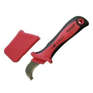 Нож с лезвием в форме крюка с пяткой HAUPA VDE 1000V для снятия оболочки с кабеля