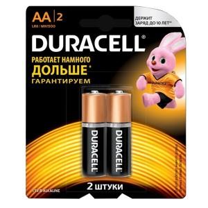 Батарейка AA Duracell LR6 BASIC MN1500 (упаковка 2шт) 115965