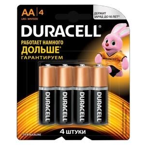 Батарейка AA Duracell LR6 BASIC MN1500 (упаковка 4шт) 115996