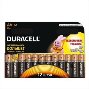 Батарейка AA Duracell LR6 BASIC MN1500 (упаковка 12шт) 006546
