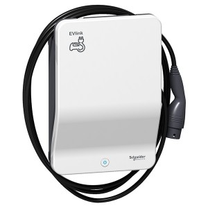 Зарядная станция EVlink Smart WB 22кВт кабель T2+замок Schneider Electric