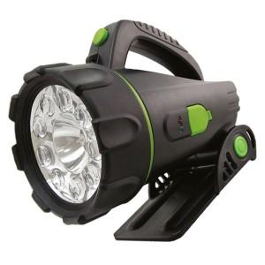 Фонарь Прожектор аккумуляторный 6W галогенная лампа, 9LED 80Lm/W подставка TDM