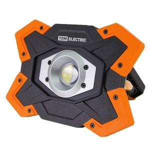 Прожектор переносной светодиодный ФП5 15W 1250Lm Li-Ion 3,7V 6,6Ah USB TDM