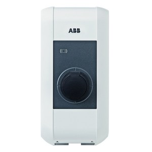 Зарядная станция ABB EVLunic Pro S 22кВт розетка со шторками типа T2, карта RFID