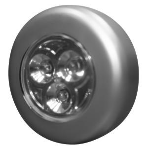 Светильник круглый светодиодный Foton HT-8014 3LED 0.23W 10Lm d67x22mm серебро (Аналог OSRAM DOT IT)