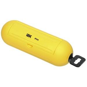 Бокс для защиты кабельного соединения IP44 желтый IEK