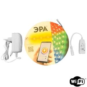 Лента светодиодная ЭРА 5050-30-RGB-IP65-Wifi-5m 12V с WIFI контроллером на 12V 5056306044458