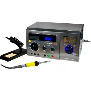 Многофункциональная цифровая паяльная станция с мультиметром и ЖК дисплеем 220В 48Вт