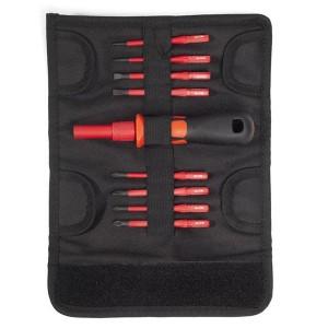 Набор диэлектрических зауженных стержней-отверток с ручкой-держателем НИО-3308 Слим VDE 1000В КВТ