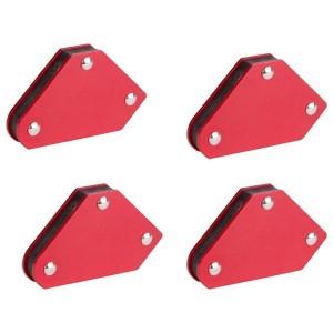Магнитный угольник-держатель для сварки набор 4шт усилие 4кг
