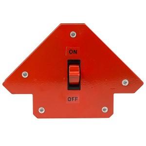 Магнитный угольник-держатель для сварки, отключаемый, на 3 угла, усилие 11,3кг
