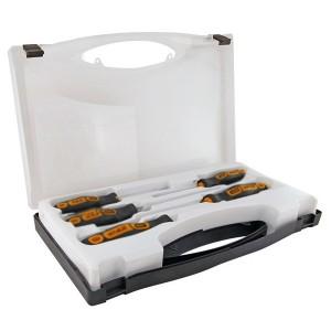 Набор из 4-х отверток в пластиковом чемоданчике сталь CR-V Алмаз TDM