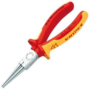 Круглогубцы прямые диэлектрические Knipex 160мм с двухкомпанентными ручками VDE 1000V