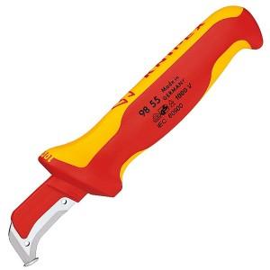 Нож с пяткой Knipex диэлектрический VDE 1000V для удаления изоляции с кабеля