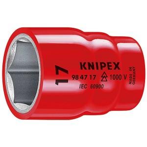 Торцовая головка диэлектрическая 13мм Knipex под квадрат 1/2 дюйма VDE 1000V