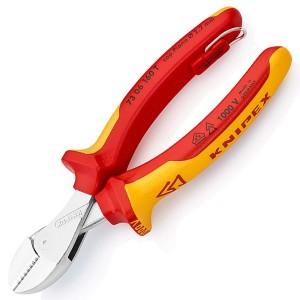 Кусачки диэлектрические Knipex особой мощности 160мм двухкомпонентные ручки с кольцом VDE 1000V