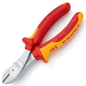 Кусачки диэлектрические Knipex особой мощности 160мм двухкомпонентные ручки VDE 1000V