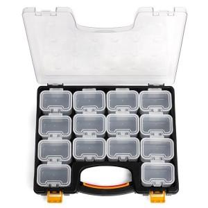Кейс-органайзер с 14 сменными модулями, серия «ПРОФИ» К-02