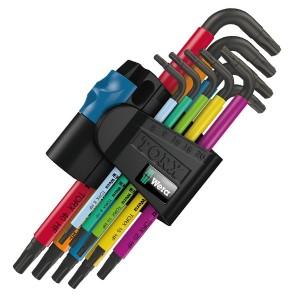 967 SL TORX® HF Multicolour Г-образные ключ с фиксирующей функцией, 9 деталь