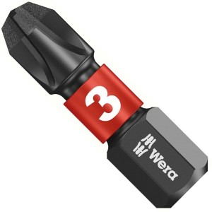 Бита крестовая ударная PH3 x 25mm Wera 851/1 IMP DC Impaktor