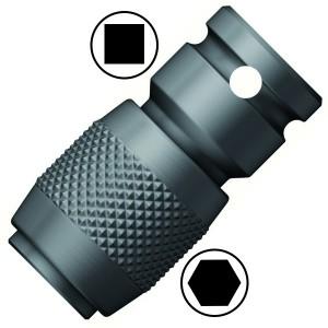 Переходник с квадрата 1/4 дюйма на шестигранник под биты 1/4 дюйма, 30mm Wera 784 A 1/4