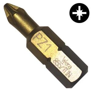 Бита крестовая PZ1 x 25mm Wera 855/1 TiN