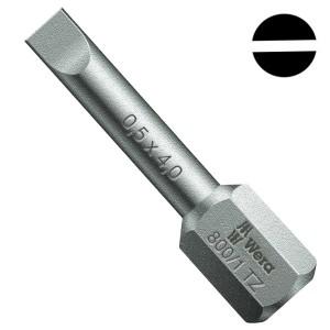 Бита шлицевая 0.5 x 4.0 x 25mm Wera 800/1 TZ