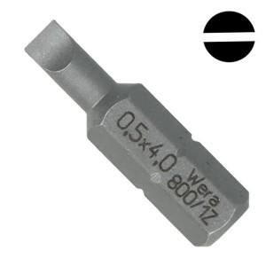 Бита шлицевая 0.5 x 4.0 x 25mm Wera 800/1 Z