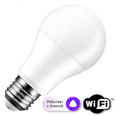 WIfI лампа светодиодная FL-LED A60-SMART 10W E27 Wi-Fi MultiCOLOR 220V 60x112mm