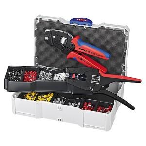 Набор Knipex пресс-клещи 975308, стрипер 1242195, кабельные наконечники в кейсе TANOS MINI-systainer
