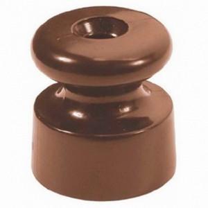 Изолятор Bironi керамика коричневый (50 штук в упаковке)