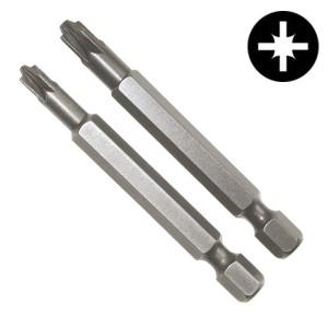 Биты крест/шлиц PlusMinus PZ/FL1 90mm (2 штуки в упаковке)
