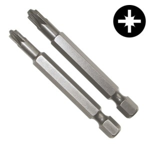 Биты крест/шлиц PlusMinus PZ/FL2 90mm (2 штуки в упаковке)