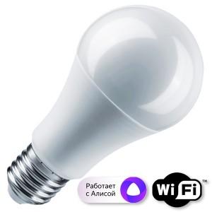 Лампа Navigator 14 554 NLL-A60-10-230-RGBWWW-E27-WIFI
