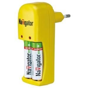 Зарядное устройство Navigator 94 470 NCH-215, 1-2 AAA/AA, Ni-MH, Ni-Cd 42x107x72mm