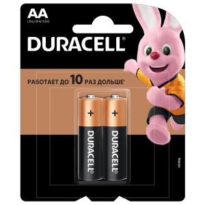 Батарейка AA Duracell LR6 BASIC NEW MN1500 (упаковка 2шт) 5000394058163