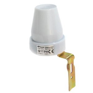 Датчик освещенности Feron SEN26 IP44 LXP-02 230V 10А цвет белый 63x63x77mm (фотореле)